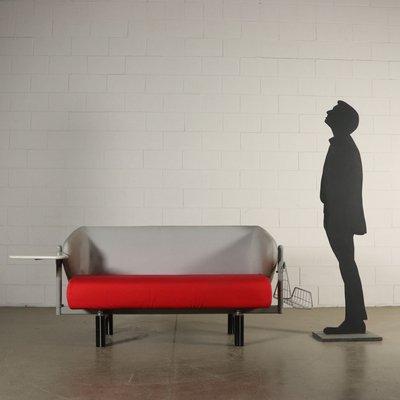 Sofa Italiano Con Revistero Y Mesa Auxiliar Anos 80