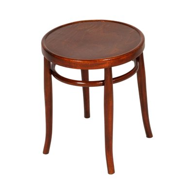 Round Vintage Bentwood Coffee Table From Thonet 1920s