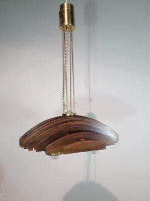 Deckenlampe Aus Holz Messing Von Esperia 1960er Bei Pamono Kaufen