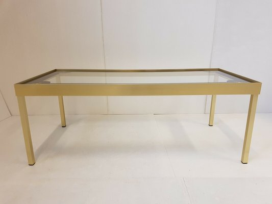 Vintage Aluminum Gold Gl Coffee Table With Stars 1960s