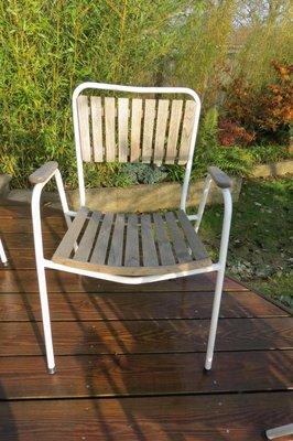 Sedie Da Giardino Impilabili.Sedie Da Giardino Impilabili Vintage Di Daneline Danimarca Set Di