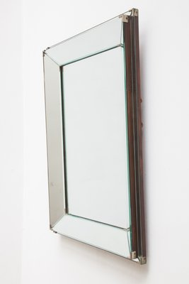 Rectangular Two Banded Art Deco Mirror 1929