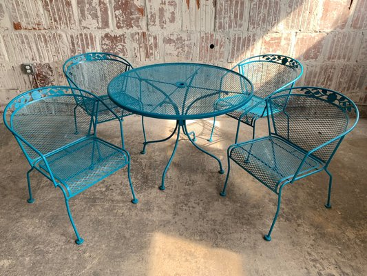 Vintage Wrought Iron Patio Set For