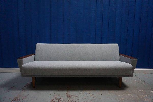 Surprising Mid Century Danish Grey Tweed 3 Seater Sofa 1960S Cjindustries Chair Design For Home Cjindustriesco