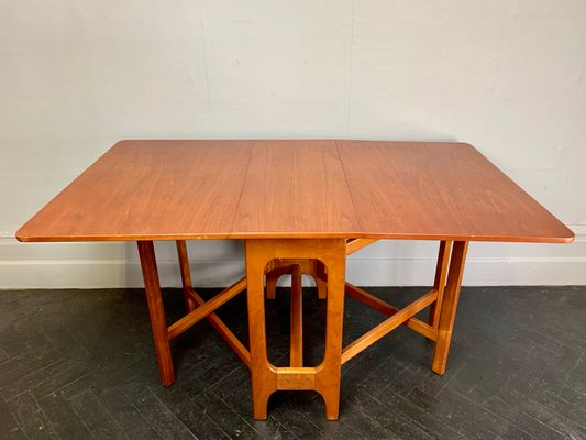 Vintage Teak Folding Gateleg Dining Table 1