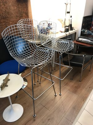 low priced 30eef 50381 Bar Stool by Harry Bertoia for Knoll International, 1988