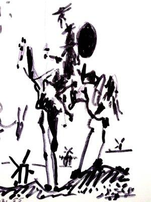 I Donchisciotte Del Tavolino.Litografia Don Chisciotte Di Pablo Picasso 1955