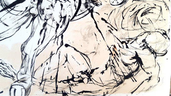 I Donchisciotte Del Tavolino.Litografia Don Chisciotte Originale Di Salvador Dali 1957