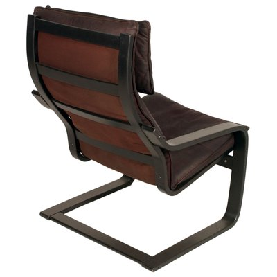 Swell Leather Poang Chairs Footrest By Noboru Nakamura For Ikea 1970S Bralicious Painted Fabric Chair Ideas Braliciousco