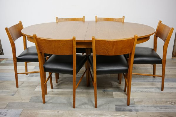 Superbe Oval Table U0026 6 Chairs, 1960s
