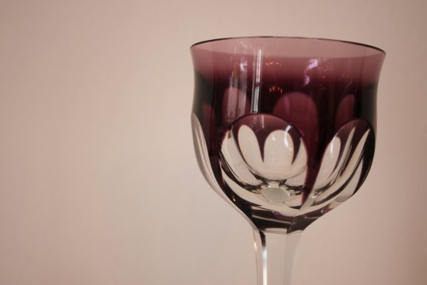 Vintage Colorful Wine Glasses from Moser Karlsbad, Set of 6