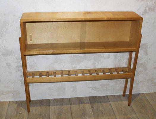 Vetrina in legno di betulla e vetro, Italia, anni \'50 in vendita su ...