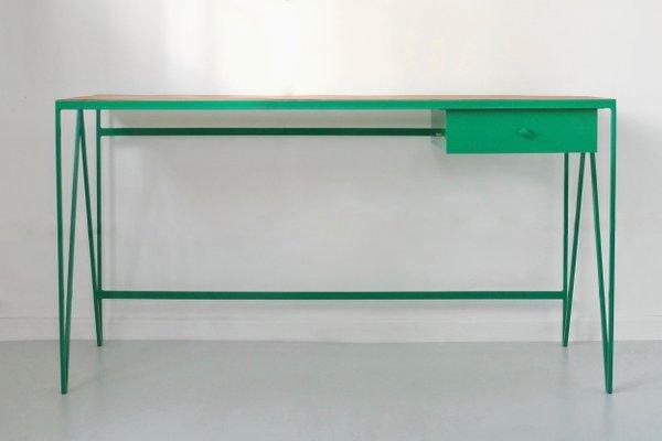 Tavolo Da Studio.Tavolo Da Studio Grande Con Ripiano In Parquet Riciclato Di New