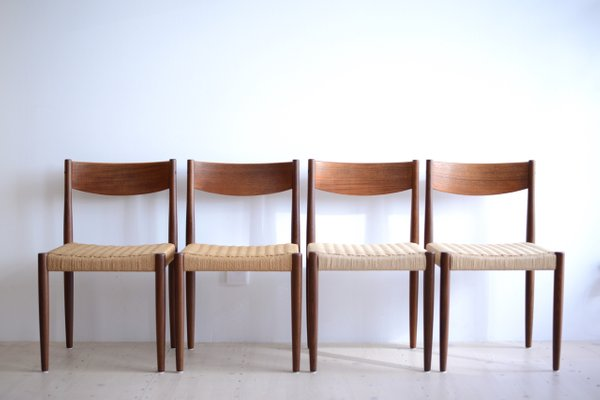 Teak Dining Chairs By Poul Volther For Frem Rojle 1965 Set Of 4 1