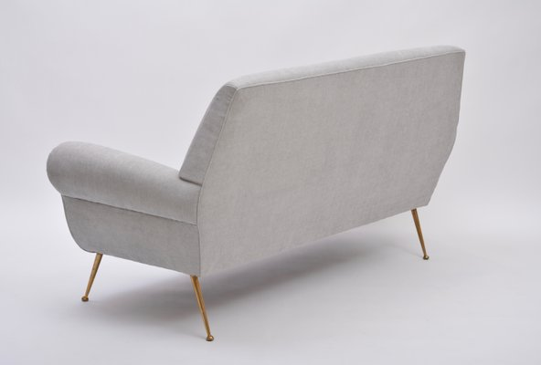 Design Bank Minotti.Grey Italian Mid Century Sofa By Gigi Radice For Minotti