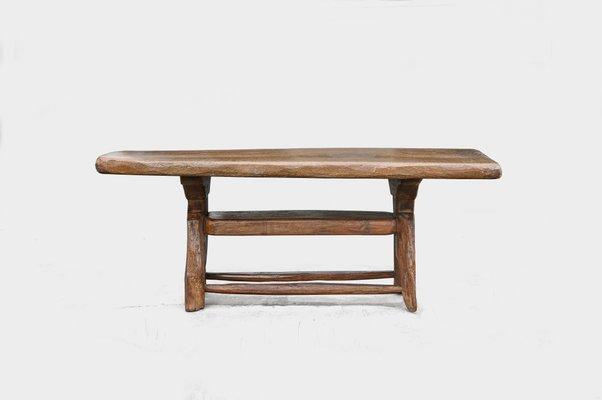 Pleasing Antique Brutalist Hand Carved Alpine Oak Coffee Table Spiritservingveterans Wood Chair Design Ideas Spiritservingveteransorg