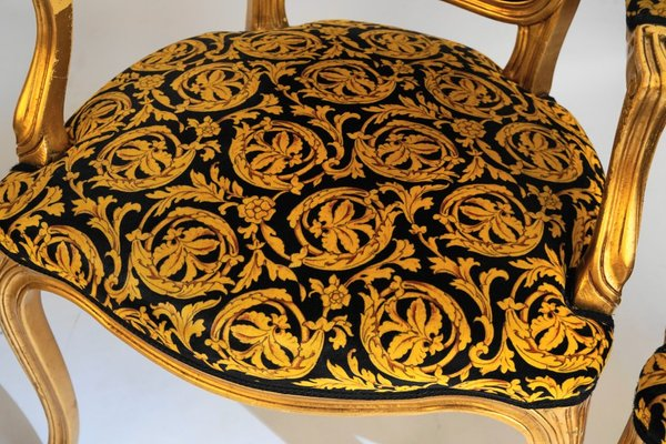Phenomenal Vintage Rococo Style Chairs 1970S Set Of 4 Download Free Architecture Designs Rallybritishbridgeorg
