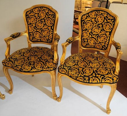 Prime Vintage Rococo Style Chairs 1970S Set Of 4 Download Free Architecture Designs Rallybritishbridgeorg