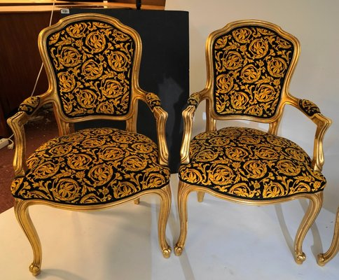 Remarkable Vintage Rococo Style Chairs 1970S Set Of 4 Download Free Architecture Designs Rallybritishbridgeorg
