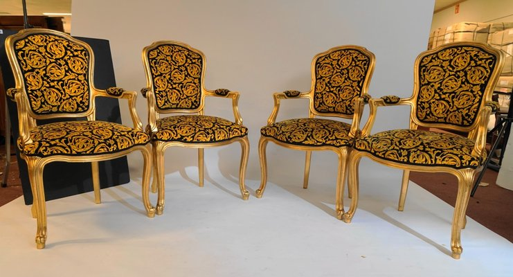 Fabulous Vintage Rococo Style Chairs 1970S Set Of 4 Download Free Architecture Designs Rallybritishbridgeorg
