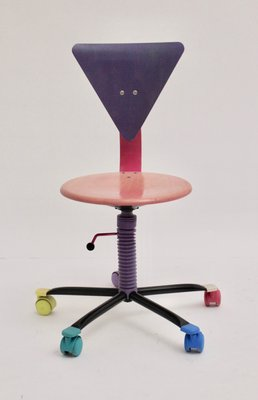 Tremendous Colorful Adjustable Desk Chair 1980S Spiritservingveterans Wood Chair Design Ideas Spiritservingveteransorg