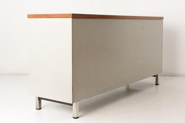 Niederlandisches Sideboard Mit Glasschiebeturen Von Gispen 1950er