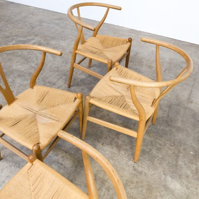 Mid Century U2018CH24u2019 Wishbone Chairs By Hans Wegner For Carl Hansen U0026 Søn,  1960s, Set Of 4