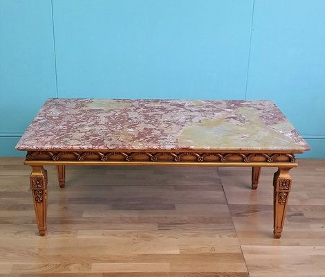 French Marble Top Coffee Table 1960s