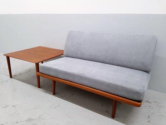 Sofa De Dos Plazas Minerva Con Mesa Auxiliar De Peter Hvidt Orla Molgaard Nielsen Para France Son Anos 60