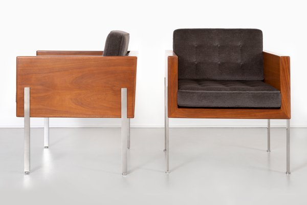 Fantastic Mid Century Modern Architectural Series Cube Chairs By Harvey Probber Set Of 2 Dailytribune Chair Design For Home Dailytribuneorg