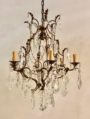 Lampadario Cristallo Anni 50.Lampadario Vintage Con Perline In Cristallo Anni 50