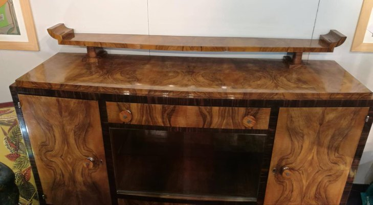 Italian Walnut Art Deco Sideboard 1930s For Sale At Pamono