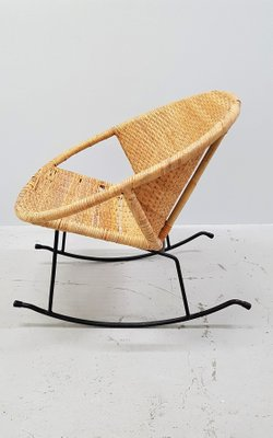 Surprising Mid Century Rattan Rocking Chair Gmtry Best Dining Table And Chair Ideas Images Gmtryco