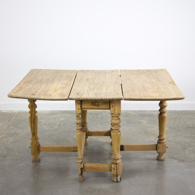 Antique Swedish Drop Leaf Dining Table