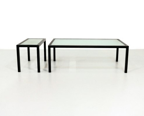 Wire Frame Coffee Table.Vintage Wire Glass Coffee Tables 1960s Set Of 2