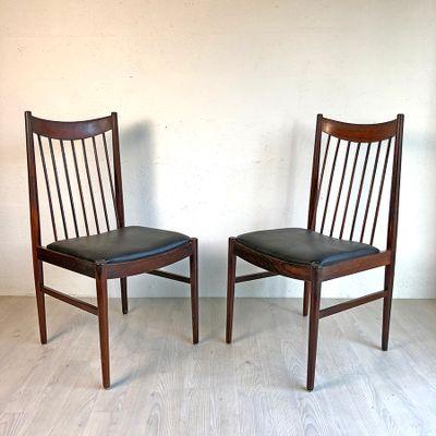 Superbe Vintage Scandinavian Rosewood Chairs By Arne Vodder For Sibast, 1950s, Set  Of 6 2