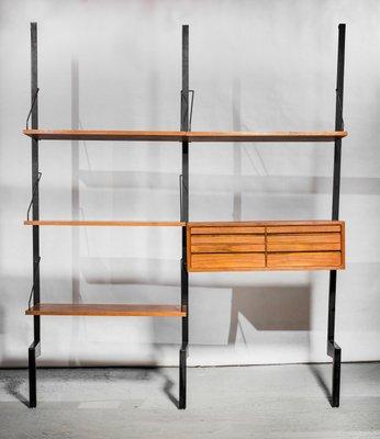 Libreria Royal System con cassetti di Poul Cadovius per Cado, anni \'60