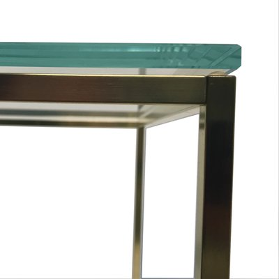 Cube Glass Brass Coffee Table From Go Oud Furniture