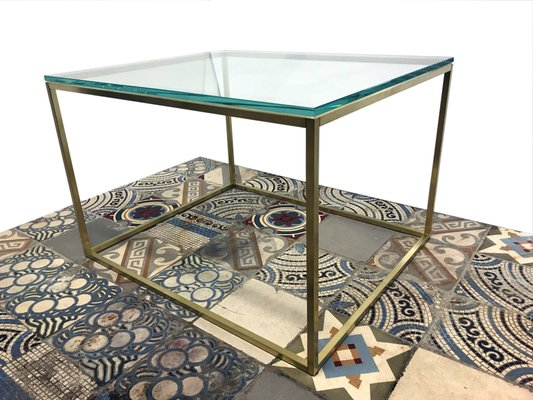 En Et Cube Basse Furniture Verre oud Table Go Laiton De mv8nON0w