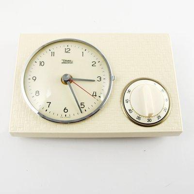 Orologio da cucina in ceramica con timer di Diehl, anni \'60