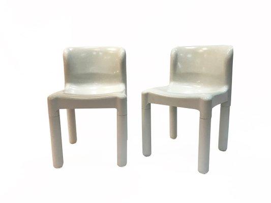 Carlo Bartoli Design.Model 4875 Chairs By Carlo Bartoli For Kartell 1970s Set Of 2