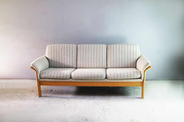 Mid-Century Danish Sofa with Beech Frame for sale at Pamono