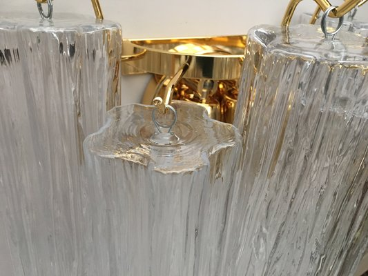 Lampada da parete applique la murrina fiordaliso murrine bianche