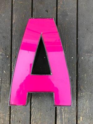 Pinkes Vintage Buchstabe A Schild Bei Pamono Kaufen