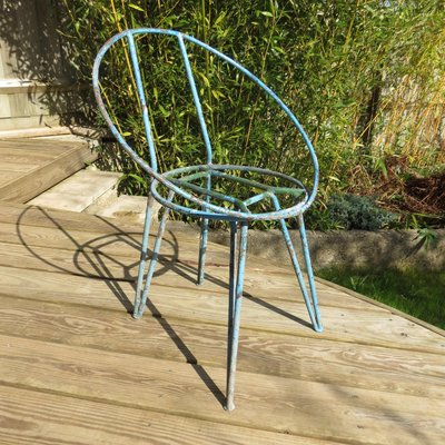 Metal Garden Chairs 1950s Set Of 4 1
