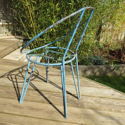 Magnificent Metal Garden Chairs 1950S Set Of 4 Creativecarmelina Interior Chair Design Creativecarmelinacom