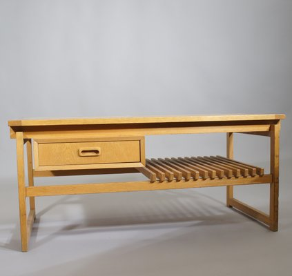 Peachy Oak Bench With Drawer And Shelf From Ikea 1960S Machost Co Dining Chair Design Ideas Machostcouk