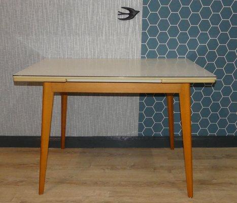 Mesa de cocina extensible vintage, años 50 en venta en Pamono