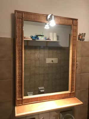 Etagère de Salle de Bain Vintage avec Miroir