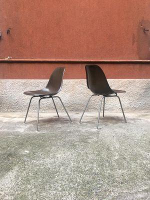Sedie Stühle aus Glasfaser von Charles & Ray Eames für Vitra, 1950er ...
